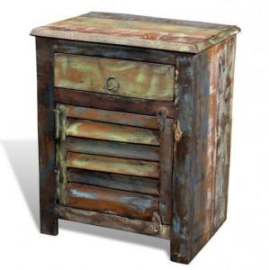 Dulap cu 1 sertar și 1 ușă, lemn reciclat