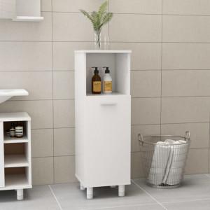 Dulap de baie, alb extralucios, 30 x 30 x 95 cm, PAL