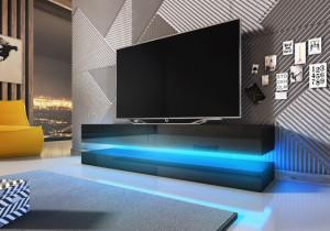 Fly Comoda Tv Black Mat/Black Super High Gloss