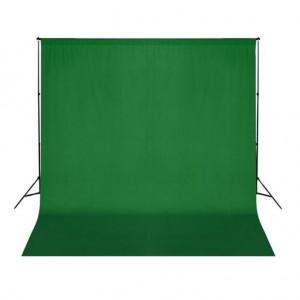 Fundal foto, bumbac, verde, 300 x 300 cm, Chroma Key