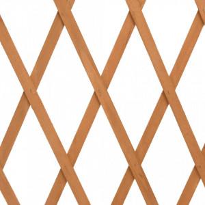 Gard cu zăbrele de grădină, portocaliu, 180x100 cm, lemn brad