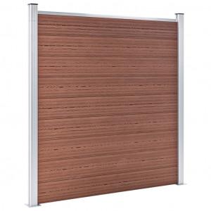 Gard de grădină, maro, 699 x 186 cm, WPC