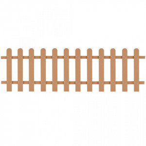 Gard din șipci, 200 x 60 cm, WPC