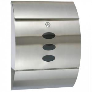HI Cutie poștală, 30 x 12 x 40 cm, oțel inoxidabil