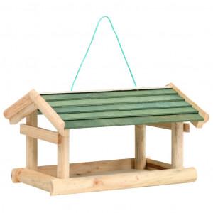 Hrănitor de păsări, 35x29,5x21 cm, lemn masiv