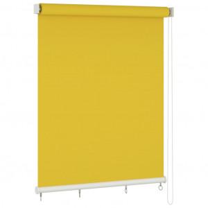 Jaluzea tip rulou de exterior, galben, 220x140 cm