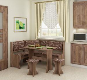 kitchen corner set with stools   SAFARI/CRAFT TOBACO