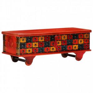 Ladă de depozitare, roșu, 110x40x40 cm, lemn masiv de acacia