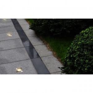 Lămpi de sol pentru exterior, 3 buc., pătrat