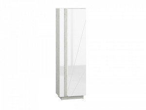 Lumens 02 vitrina beton/white high gloss