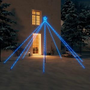 Lumini brad de Crăciun 576 LED-uri albastru 3,6 m int./ext.