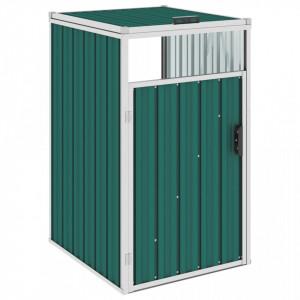 Magazie pentru pubelă, verde, 72 x 81 x 121 cm, oțel