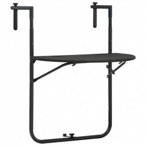 Masă balcon suspendată maro 60x64x83,5 cm plastic aspect ratan