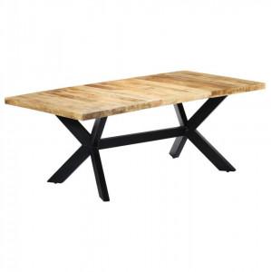 Masă de bucătărie, 200x100x75 cm, lemn masiv de mango