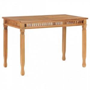 Masă de grădină, 120 x 65 x 80 cm, lemn masiv de tec