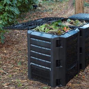 Nature Pubelă pentru compost 1200L, negru, 6071483