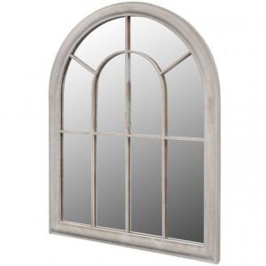 Oglindă de grădină arcadă rustică 69x89 cm interior & exterior