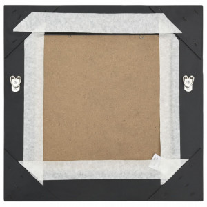 Oglindă de perete în stil baroc, negru, 40 x 40 cm