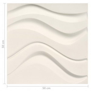 Panouri de perete 3D, 24 buc., 0,5 x 0,5 m, 6 m²
