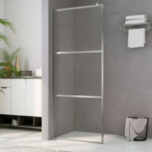Paravan de duș walk-in, 140 x 195 cm, sticlă ESG transparentă