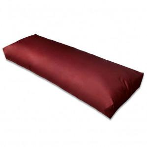 Pernă de spate tapițată, roșu vin, 120 x 40 x 10 cm