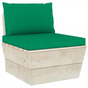 Perne pentru canapea din paleți, 2 buc., verde, textil