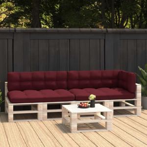 Perne pentru canapea din paleți, 5 buc., roșu vin