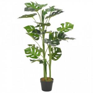 Plantă artificială Monstera cu ghiveci, verde, 100 cm