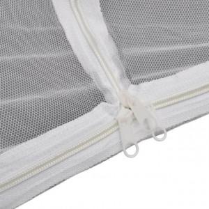 Plasă de țânțari în formă de iurtă 200 x 120 x 130 cm, Alb