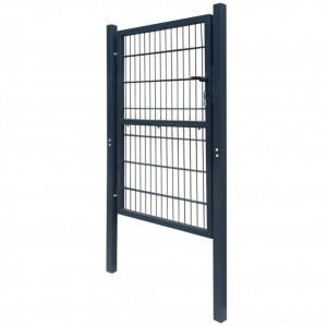 Poartă 2D pentru gard (simplă) 106 x 230 cm, gri antracit