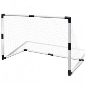 Poartă mini-fotbal pentru copii set 2 buc. 91,5 x 48 x 61 cm