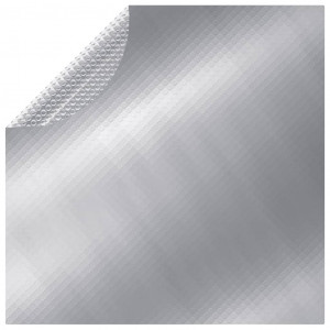 Prelată de piscină, argintiu, 417 cm, PE