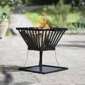 RedFire Coș pentru foc Denver, negru, 39 x 39 cm, oțel, 85015