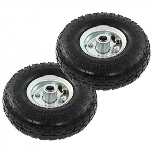 Roți cărucior industrial, 2 buc., cauciuc 4,10/3,50-4 (260x83)