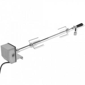 Rotisor cu motor profesional pentru BBQ, oțel, 900 mm