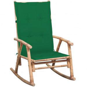 Scaun balansoar cu pernă, bambus