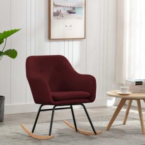 Scaun balansoar, roșu vin, material textil