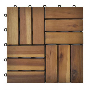 Set dale din lemn de salcâm 30 x 30 cm, 30 buc.