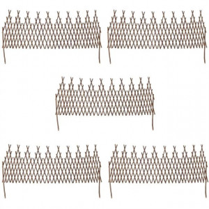 Set de 5 garduri extensibile de salcie cu zăbrele 170 x 55 cm