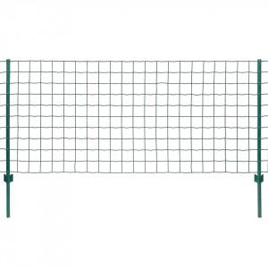 Set de gard Euro, 20 x 1 m, oțel, verde