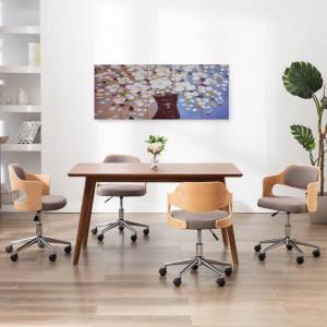 Set tablouri din pânză, vas cu flori, multicolor, 150 x 60 cm