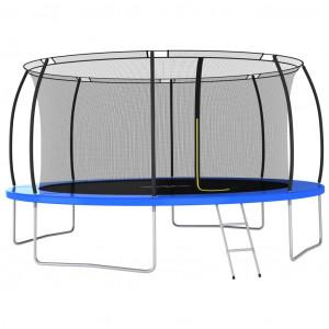 Set trambulină rotundă, 460 x 80 cm, 150 kg