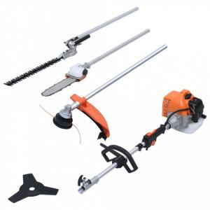 Set unelte de grădinărit 4-în-1, cu motor pe benzină, 52 cmc