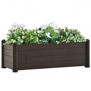 Strat înălțat de grădină, cafeniu, 100 x 43 x 35 cm, PP