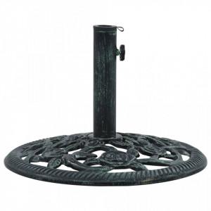 Suport de umbrelă, verde, 9 kg, fontă, 40 cm