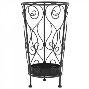 Suport pentru umbrelă, stil vintage, metal, 26x46 cm, negru