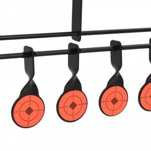 Țintă de tir sportiv rotativă cu auto-resetare, 8 + 1 ținte