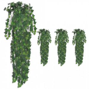 Tufișuri de iederă artificială, 4 buc., verde, 90 cm