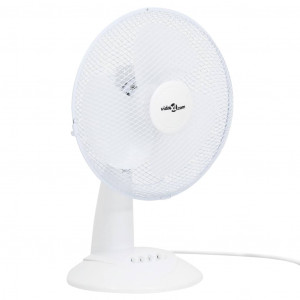 Ventilator de masă cu 3 viteze, alb, 30 cm, 40 W