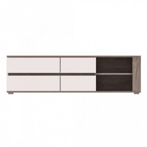 Ares as2 tv stand oak enderein/white high gloss